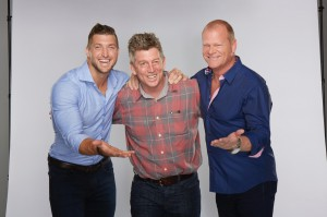 George Verschoor with Tim Tebow and Mike Holmes